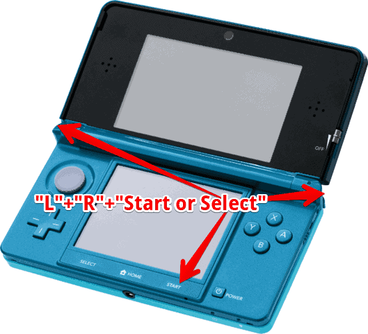 How to soft reset 3ds