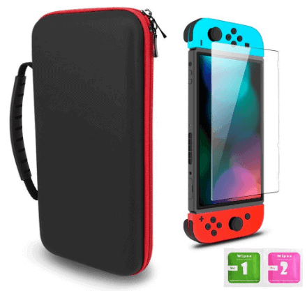 Switch carrying case free screen protector