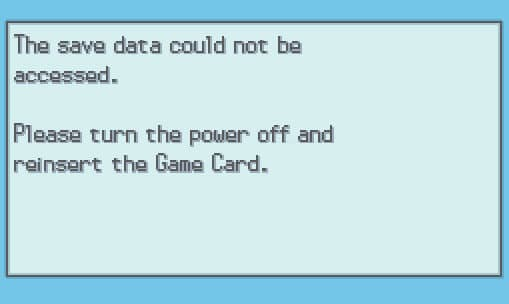 Nogba save data could not be accessed fix