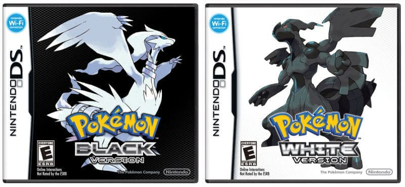 Pokemon black and white version nds