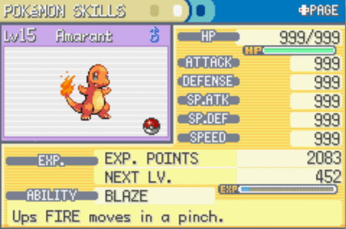 Max stats cheat for firered and leafgreen