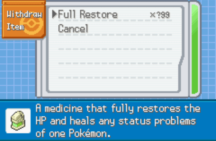 Pokemon radical red unlimited healing items cheat