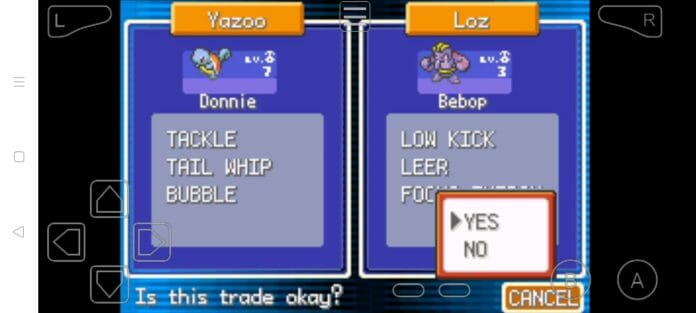 Step 18a how to trade pokemon in myboy