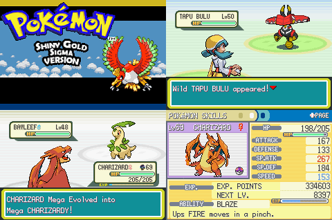 Ultra shiny gold sigma pokemon rom hack with physical special split