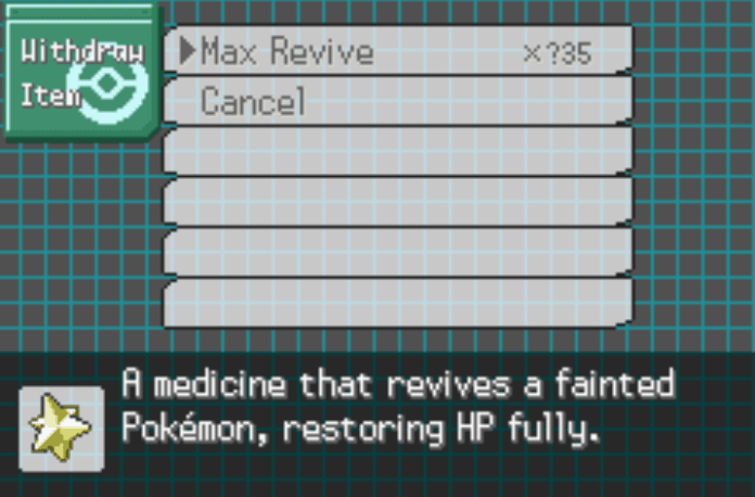 Unlimited healing items pokemon gs chronicles cheat
