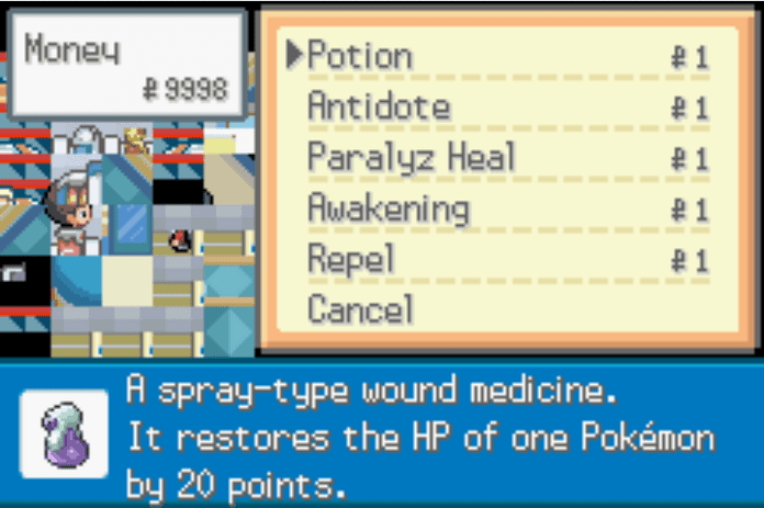 Poke mart items cost only 1 pokemon gs chronicles cheat