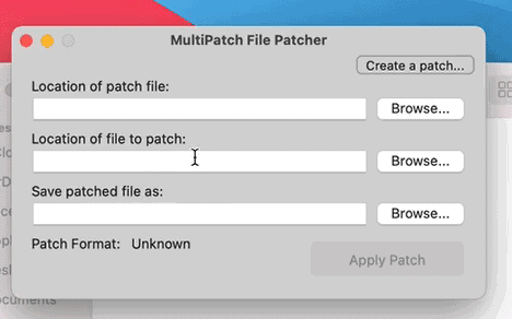Step 1 how to patch rom hacks on mac using multipatch
