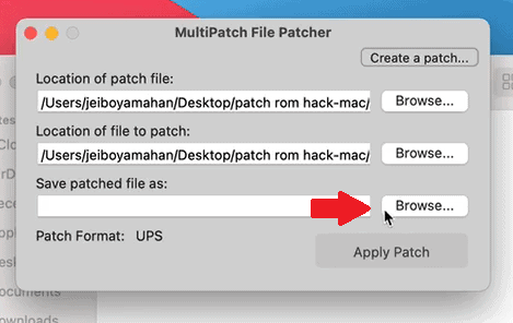 Step 6 how to patch rom hacks on mac using multipatch
