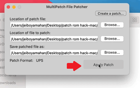 Step 8 how to patch rom hacks on mac using multipatch