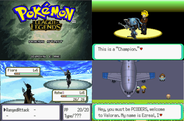 Pokemon league of legends rom hack with fakemon